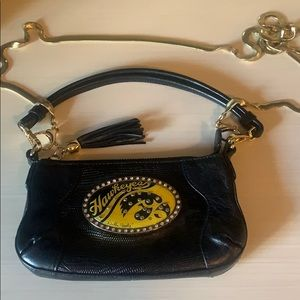 Debbie Brooks small Iowa Hawkeye handbag